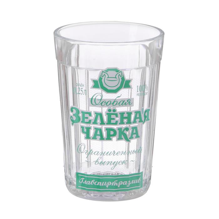 """Стакан граненый """"Зелёная Чарка"""", 250 мл"""