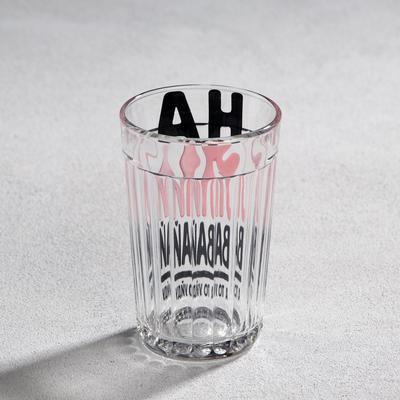 """Стакан граненый """"Наливай"""" стекло, в упаковке"""