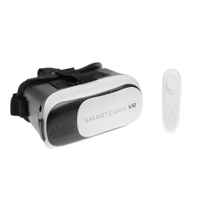3D очки Smarterra VR, BT- контроллер для смартфонов, бело/черные