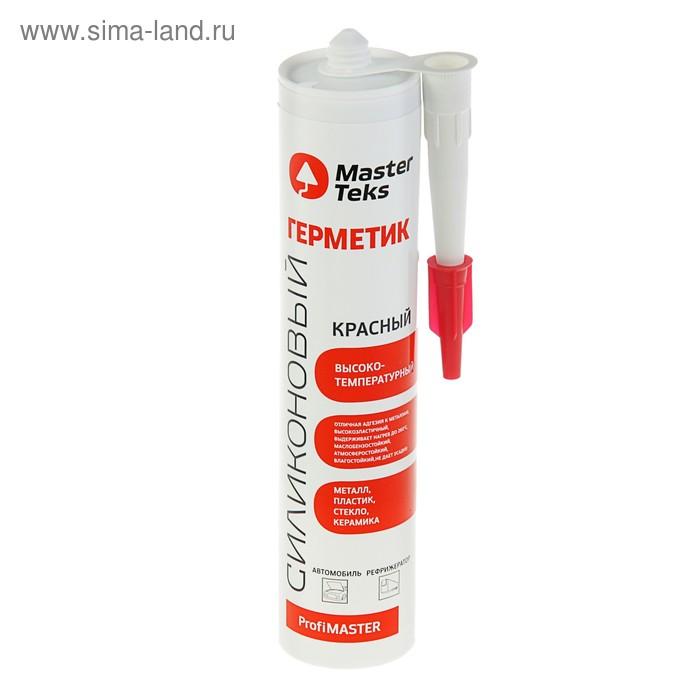 Герметик MasterTeks PM, силиконовый, высокотемпературный, красный