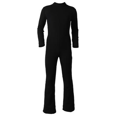 Комбинезон для фигурного катания, низ брюки, термобифлекс цвет черный (р.42)
