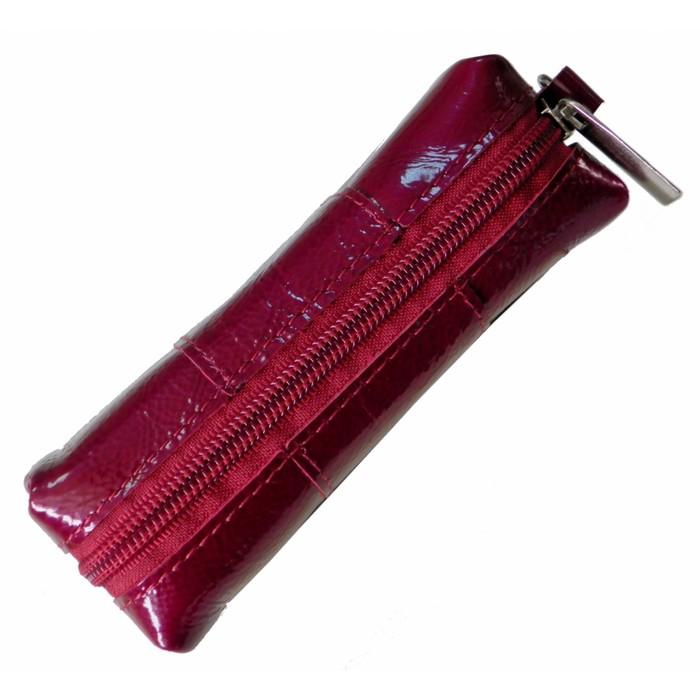 Футляр для ключей на молнии, цвет фиолетовый