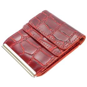 Портмоне с зажимом Z-28-4, 10,2*1,5*8,2,отдел для карт, красный