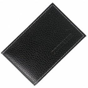 Визитница, лист на 1 карту, 16 визиток, цвет чёрный