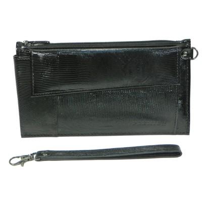 Клатч мужской H-35/02-100, 21,5*5*12,5,2 отд для купюр, для монет, для карт, ручка, черный