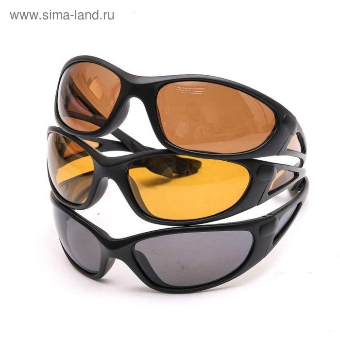 Поляризационные очки Aquatic в пластиковой оправе (цвет линз желтый)