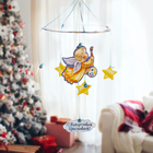 Рождественская подвеска «Ангелочек с красками», 31,7 х 37,7 см