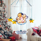 Рождественская подвеска «Ангелок с барашками», 31,7 х 37,7 см