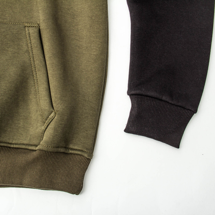 Джемпер-толстовка мужской с капюшоном 982 цвет хаки, р-р 54-56 (3XL)