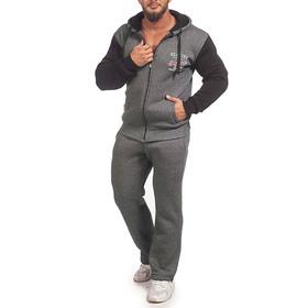 Комплект мужской (толстовка, брюки) 993+1907 цвет антрацит, р-р 44-46 (M)