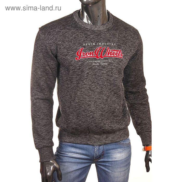 Джемпер-толстовка мужская 1914 цвет чёрный, р-р 54-56 (3XL)