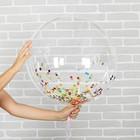 """Шар полимерный 24"""" «Сфера» + конфетти - фото 308466306"""