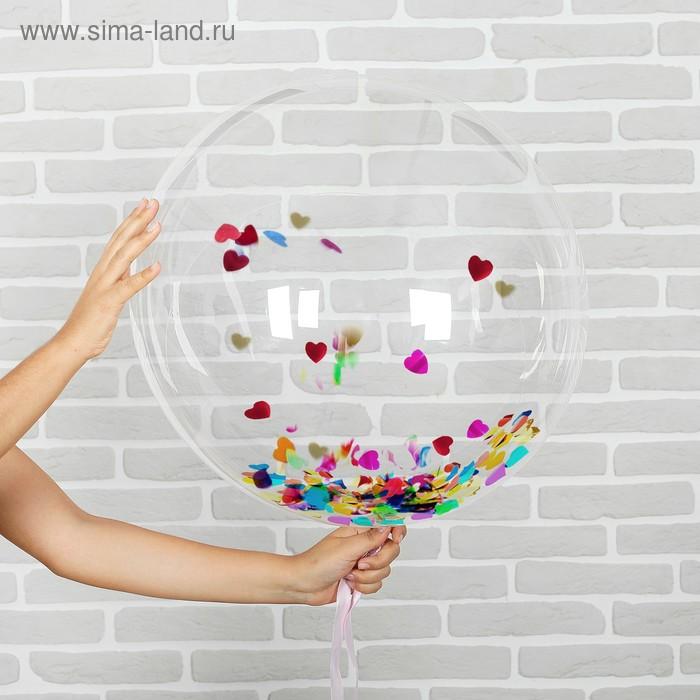 "Ball polymer 32"", ""Sphere"" (+ hearts confetti)"