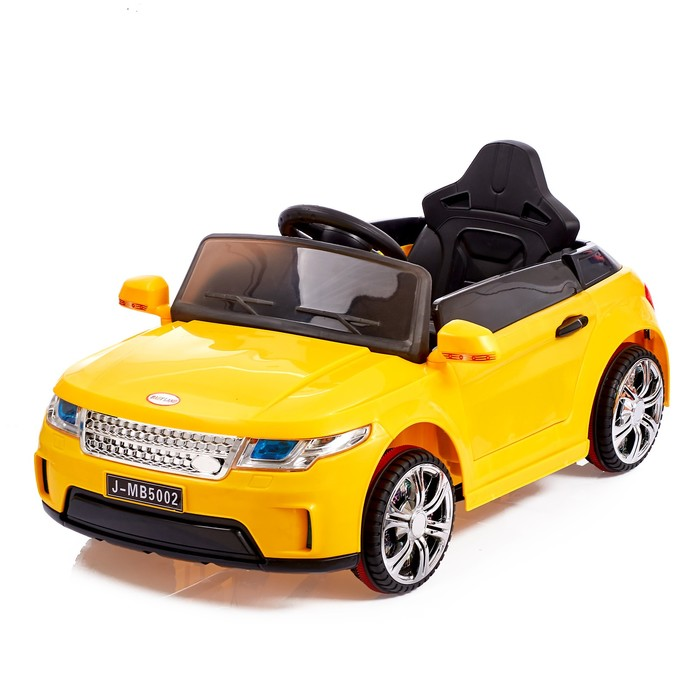 Электромобиль «Ренджик», 2 мотора, радиоуправляемый, FM, USB, цвет желтый
