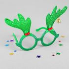 """Карнавальные очки """"Рожки"""", цвет зеленый"""