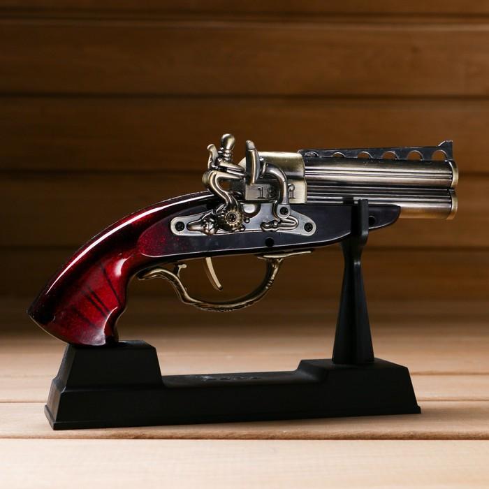 Изделие на подставке, пистолет двухствольный, 4*12*18см