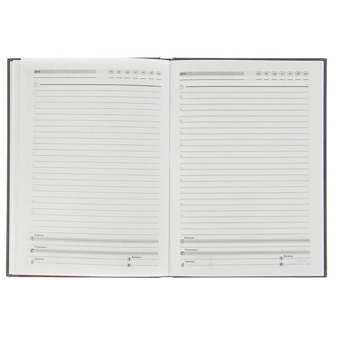 Ежедневник недатированный А5, 80 листов «Книжная полка», твёрдая обложка, глянцевая ламинация