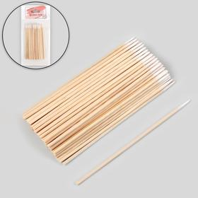 Cotton swabs on a wooden base, acuminate, 10cm, 100pcs