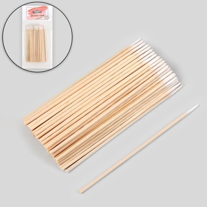 Ватные палочки на деревянной основе, заострённые, 10 см, 100 шт
