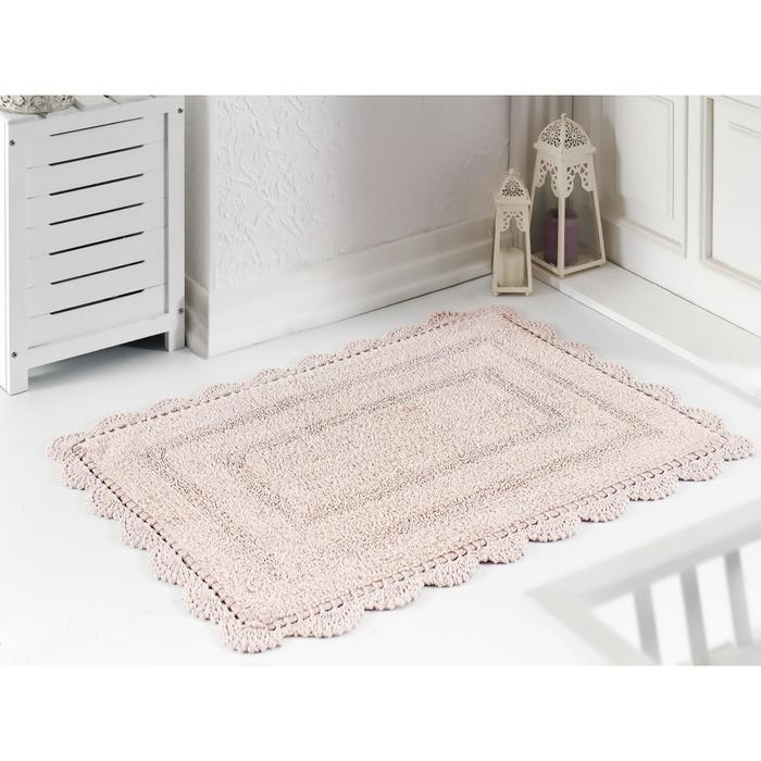 Коврик для ванной Evora, размер 60х100 см, цвет пудра