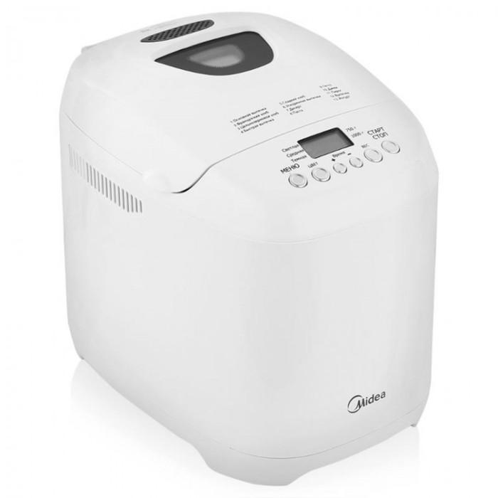 Хлебопечь Midea BM-210BC-W, 580 Вт, 3 степени пропекания, белый