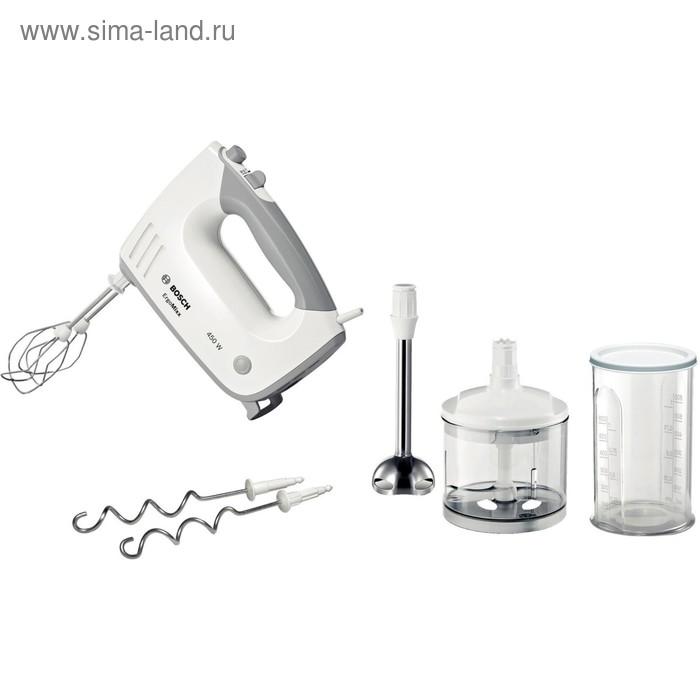 Миксер Bosch MFQ36480, ручной, 450 Вт, белый/серый