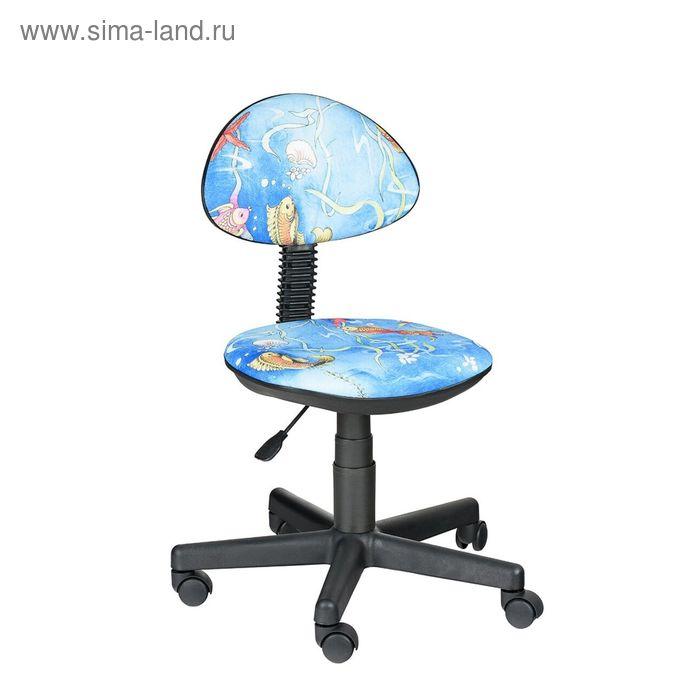 """Детское кресло """"Логика"""",  голубой, без подлокотника  (Т-19)"""