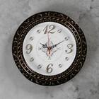 Wall clock, series: Interior, Grata, bronze, d=29 cm
