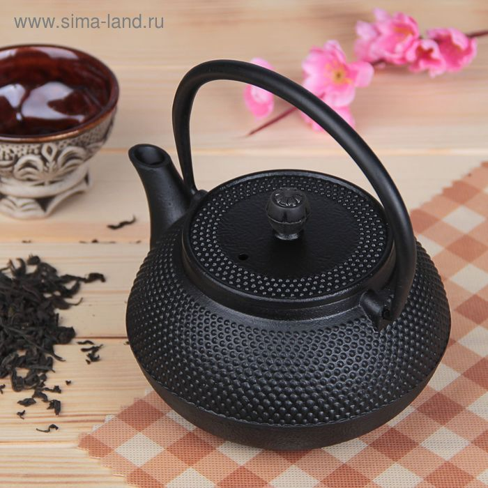 """Kettle with strainer """"Eastern night"""", 600 ml, black"""
