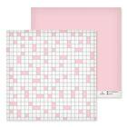 Бумага для скрапбукинга «Розовая клеточка», 30.5 × 30.5 см, 180 г/м