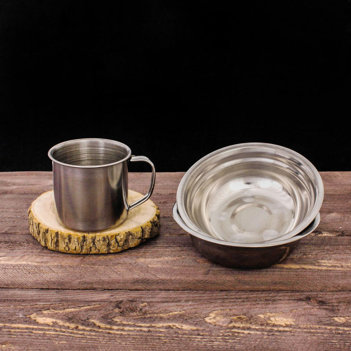 "Набор посуды ""Туристический"", кружка (200 мл), тарелка 2 шт, чехол"