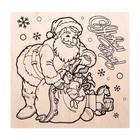 """Доска для выжигания """"С Новым Годом"""" Дед Мороз с подарками"""