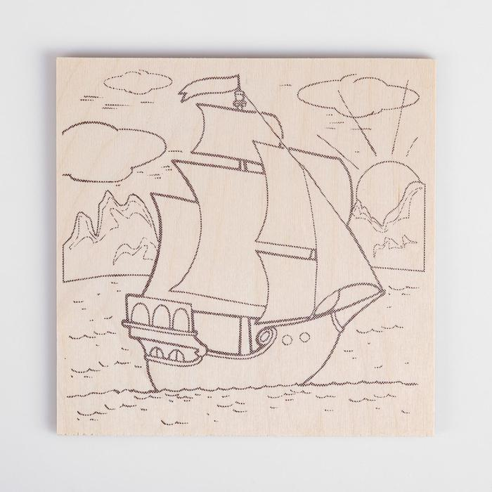 Кораблик картинки для выжигания по дереву для