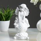 "Статуэтка ""Ангел на шаре"", белая, 22 см - фото 1700322"