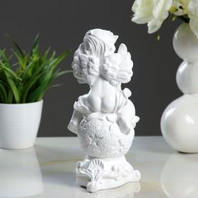 "Статуэтка ""Ангел на шаре"", белая, 22 см - фото 1700324"