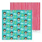 Бумага для скрапбукинга «В тельняшке и с усами», 30.5 × 30.5 см, 180 г/м