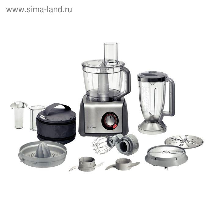 Кухонный комбайн Bosch MCM68840, 1250 Вт, темно-серый/нержавеющая сталь