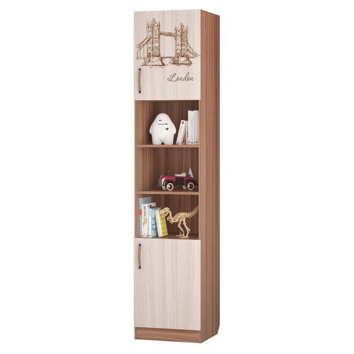 """Шкаф для книг с полками """"Вояж"""", 451х446х2136 мм, ясень тёмный, ясень светлый"""