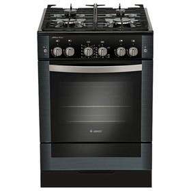 Плита Gefest 6500-02 0044, газовая, 4 конфорки, 52 л, газовая духовка, черная