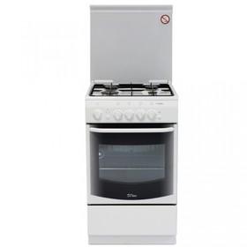 Плита газовая De Luxe 5040.36 Г (КР), 4 конфорки, 43 л, газовая духовка, белый