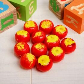Счётный набор 'Яблочки', 12 шт., яблочко: 4 × 3 см Ош