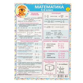 Шпаргалка 'Математика 5-6 класс' А5 Ош