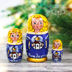 """Матрешка 3 кукольная """"Ангел с храмом"""" 11 см"""