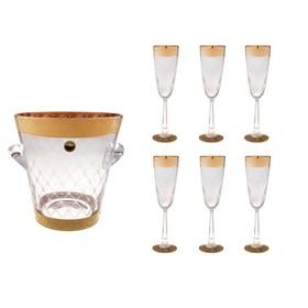 Набор для шампанского Dom Perignon (ведерко 3,5 л., 6 бокалов 110 мл) Ош