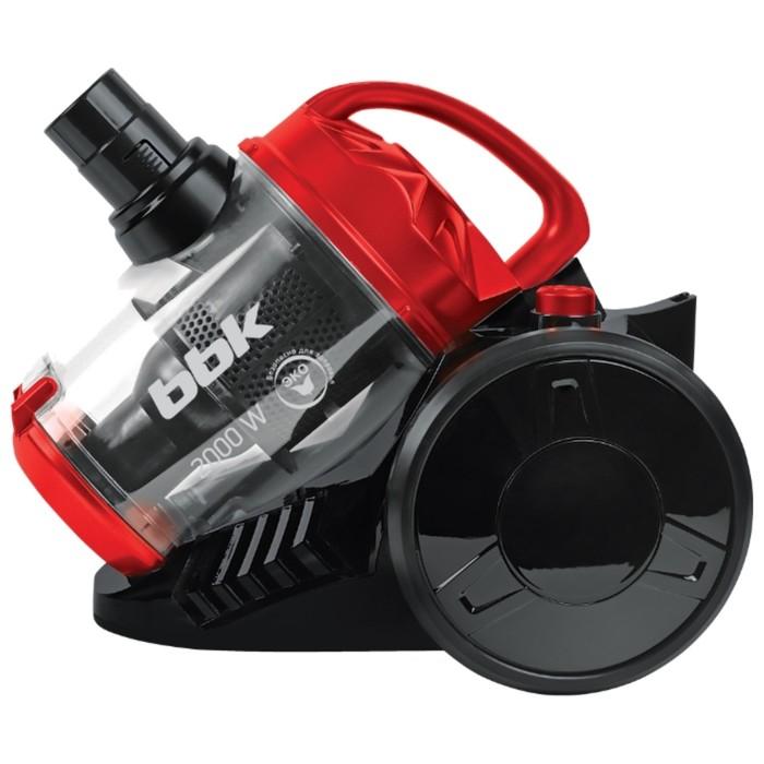 Пылесос BBK BV1503, 2000/320 Вт, 2.5 л, чёрно-красный