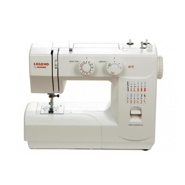 Швейная машина Legend by Janome LE17, 23 операции, обметочная, потайная, эластичная строчка   285733