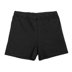 Шорты гимнастические х/б, размер 30, цвет чёрный Ош