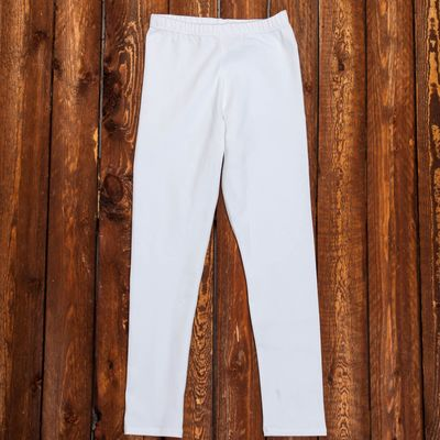 Лосины гимнастические х/б, размер 38, цвет белый