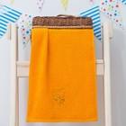 """Махровое полотенце """"Белка"""", размер 30х60 см, цвет оранжевый"""