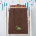 """Махровое полотенце """"Черепаха"""", размер 30х60 см, цвет коричневый"""
